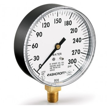 雅斯科ashcroft 1005P XUL 消防洒水压力表