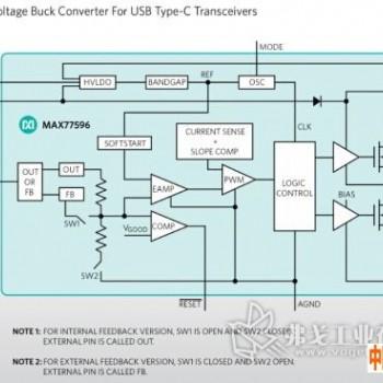 宽输入电压降压转换器为下一代设备的USB Type-C收发器供电