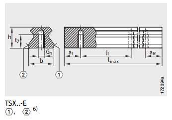 RUE45-E-L直线滑轨规格图