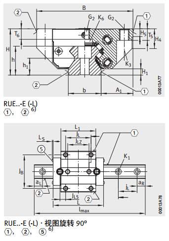 RUE45-E-L导轨