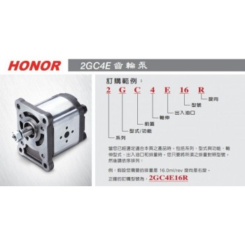 台湾HONOR钰盟1DG1AP0602R高压齿轮泵1DL1BP0601R