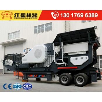 移动式石子加工机 轮式可移动打砂机远赴江西 用户满意
