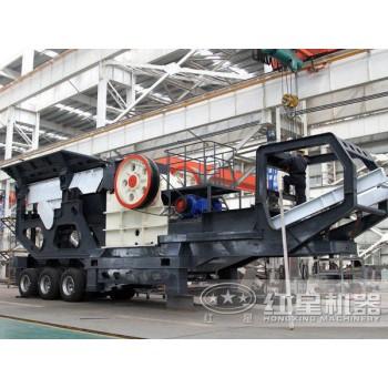 河南时产200吨青石移动破碎生产线在河北JYX77
