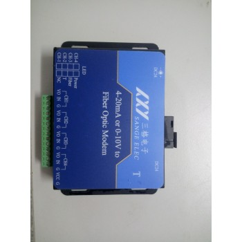 三格电子4-20mA电流或者0-10V电压转光纤_模拟量光猫使用说明书(工业级)